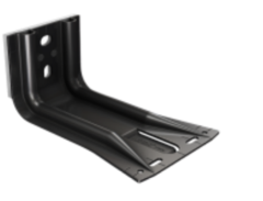 SPIDI max TS6 / Wall bracket with Thermostop, galvanized aluminum