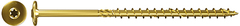 FPF WT / Wood construction screw Power-Fast Flange head, TX, yellow zinc-plated, partial thread 8 mm