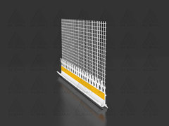ED B05F / Drip edge with mesh for base profile (self-adhesive) 5 mm
